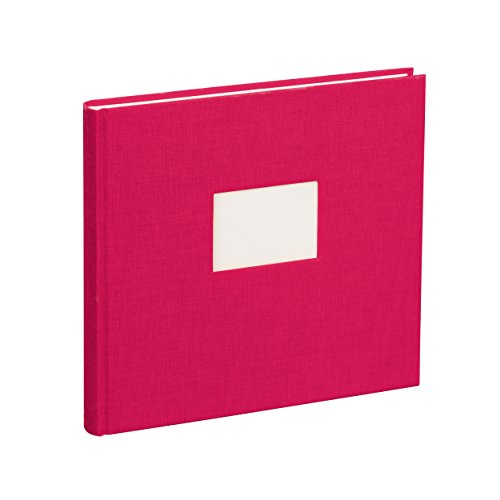 Semikolon (353527) Gästebuch mit 240 blanko Seiten pink (rosa) - Gäste-Buch mit Buchleinenbezug -...