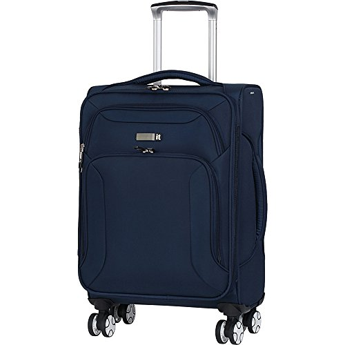 it luggage Fascia 8 Wheel Lightweight Semi Expander Suitcase Cabin koffer, 56 cm