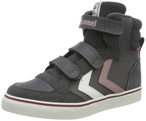hummel Unisex Kinder Stadil Pro Jr Sneaker, Schwarz Asphalt, 35 EU