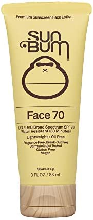 Sun Bum Original SPF 70 Sunscreen Face Lotion Vegan and Reef Friendly Octinoxate Oxybenzone product image