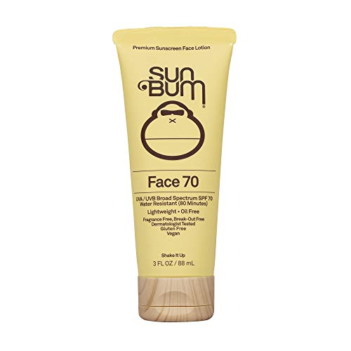Sun Bum Original SPF 70 Sunscreen Face Lotion | Vegan and Reef Friendly (Octinoxate & Oxybenzone Free) Fragrance-Free Moisturizing Broad Spectrum UVA/UVB Sunscreen With Vitamin E | 3 Oz, 1 count