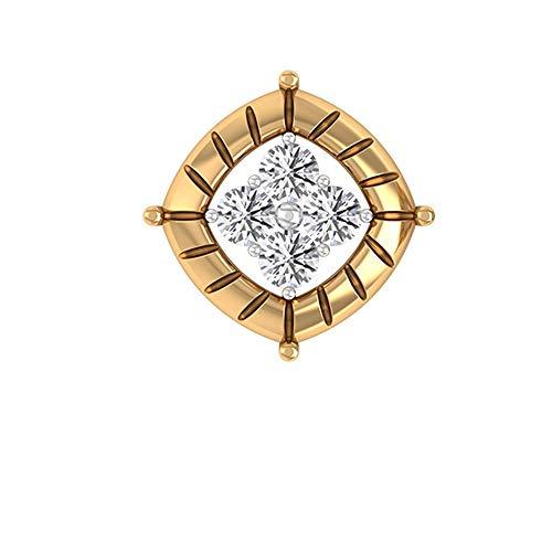 Rosec Jewels 10 quilates oro amarillo round-brilliant-shape H-I Diamond