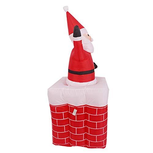 Wsaman 5.2Ft Hebe Kamin Weihnachtsmann Modell, LED Aufblasbare Weihnachtsmann-Puppe Props Luminous Weihnachten Decoratios Geschenke Windundurchlässiges Für Yard/Party/Indoor/Outdoor/Rasen