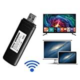 Wireless USB 2.0 TV Wi-Fi Network Card Adapter 802.11A/B/G/N 2.4GHz and 5GHz Dual-Band Wireless WLAN LAN Adapter 300Mbps Compatible for Samsung Smart TV WIS12ABGNX WIS09ABGN by discoGoods