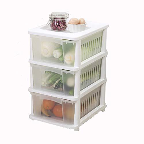 TXXM Estante de la carretilla de plástico gaveta de la carretilla del estante del hogar de la carretilla de almacenamiento de cocina (Size : 3 layers)