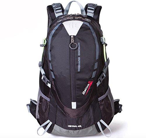 sac à dos d'escalade Hommes de plein air sac à dos de voyage 40L Multifonctionnel Noir
