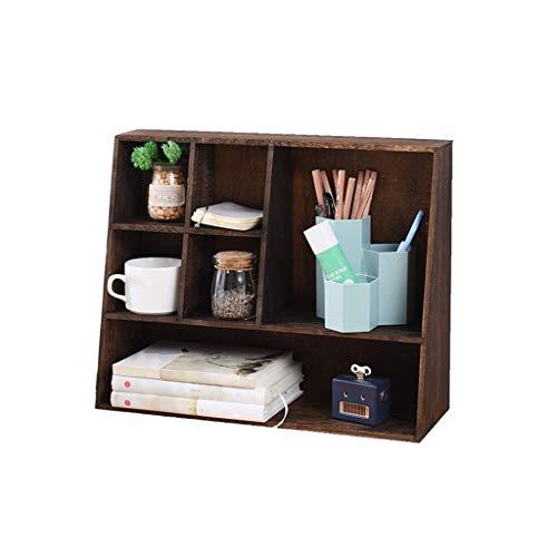 JJZXD Multipropósito Ajustable De Escritorio De Bambú De Escritorio Organizador Del Almacenaje De La Exhibición Del Estante De Libro De Cocina For Office