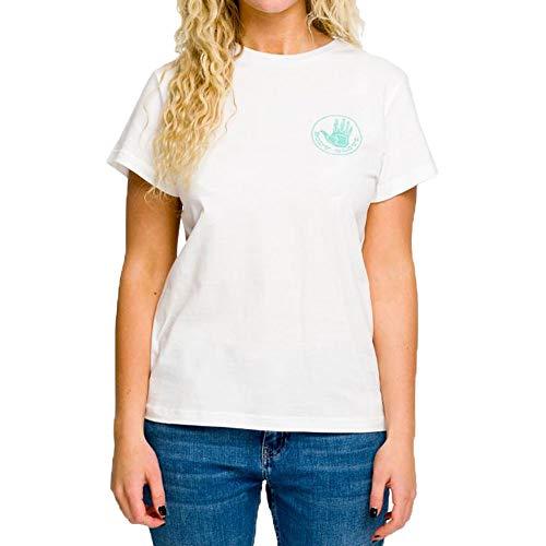 Body Glove S/S OG Logo tee Camiseta Manga Larga, Mujer, White, M