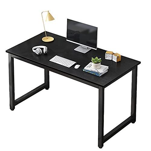 Escritorio de computadora Mesa de escritorio industrial de 47 pulgadas Escritorio de estudio de trabajo robusto Escritorio simple para juegos de PC para estación de trabajo de oficina en casa,Negro