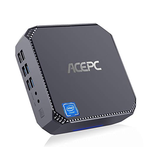 Mini Gaming PC, ACEPC CK2 Intel Core i5-7200U Windows 10 Pro Mini Desktop Computer 8GB RAM 128GB M. 2 SSD, VGA+HDMI+Mini DP-Ausgänge, Unterstützung von 4X USB 3.0/Dualband-WLAN/Gigabit-Ethernet/BT4.2
