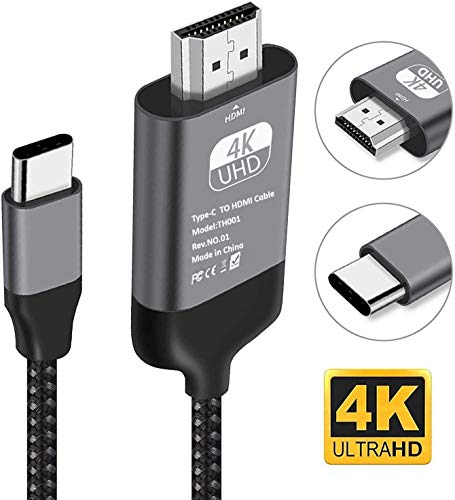 USB C zu HDMI-Kabel, Kdely 4K@60HZ USB Typ C zu HDMI-Kabel[Thunderbolt 3 kompatibel] USB C auf HDMI Kabel für iPad Pro/MacBook Pro/Air/Chromebook Pixel/Surface Book/Dell XPS/Samsung/Huawei P40 Pro
