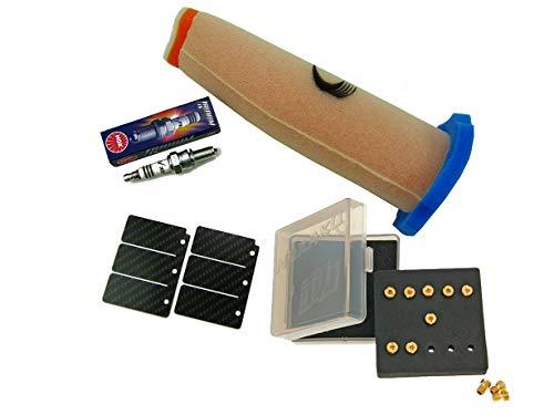 Stage 2 Ersatzteil für/kompatibel mit Kawasaki KMX 125 Luftfilter + Membrane Carbon + Düsen + Rennkerze