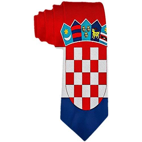 Männer 'S Krawatte kroatische Flagge und Zeichen Polyester Seide Krawatte