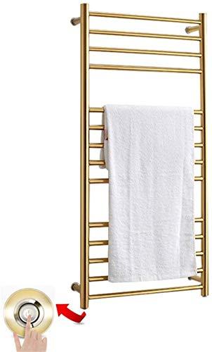 Radiador Toallero Eléctrico, Toalla calentadora de pared, rack de secador de toallas calientes de acero inoxidable 304, riel de toalla calentada de 14 bar, bastidores de toallas eléctricas para baño,