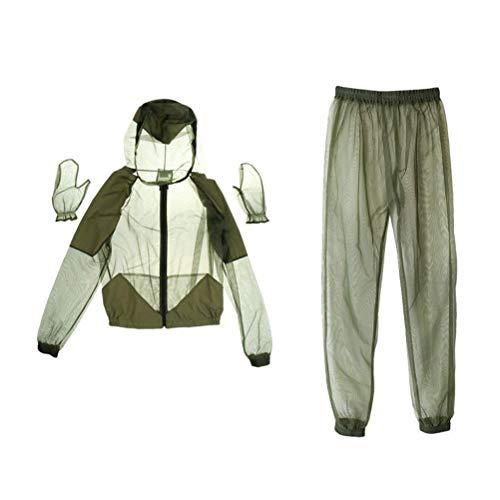 Schimer Moskito Anzug Mückenschutz Kleidung mit für Outdoor und Camping, MOSKITONETZ Kopf, Moskito Kopfnetz, Gesichtsschutz, Mückennetz, Insektenschutz, Weicher Mückenschutz für Alle Naturliebhaber