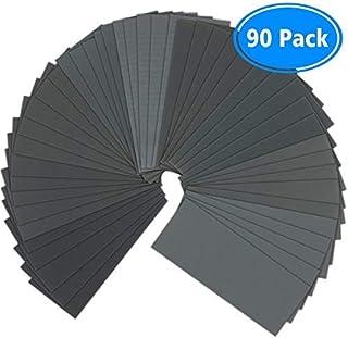 Sandpaper, 90 Pcs 400 to 3000 Grit Wet Dry Sandpaper Assortment 9×3.6 Inch for..