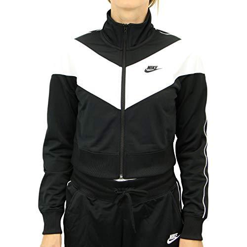 Nike Damen Sportswear Heritage Weste, Schwarz/Weiß/Schwarz/Schwarz, S