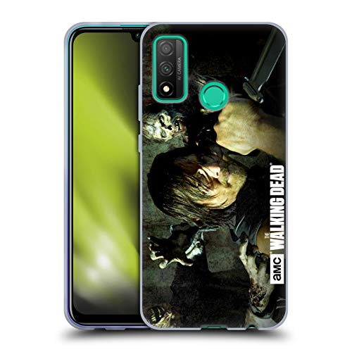 Head Case Designs Officially Licensed AMC The Walking Dead Daryl Knife Walkers and Characters Soft Gel Case Compatible with Huawei P Smart (2020)