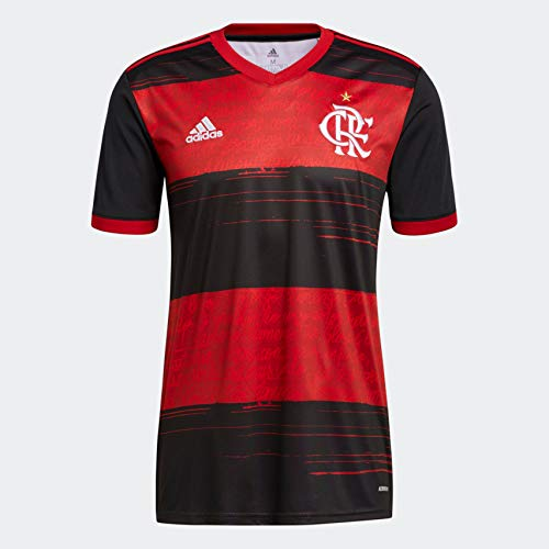 adidas 2020-21 CR Flamengo Home Jersey - Black-Red M