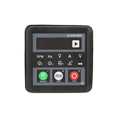 Generator Controller,DC20D MKII Electronic Generator Controller Module,Control Panel for Diesel Engine or Generator, Auto Start/Stop, Protection and Alarm Indication