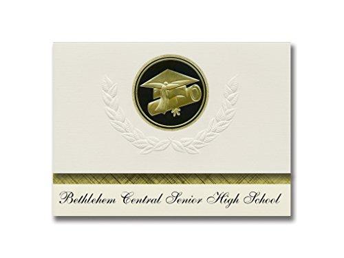 Signature Announcements Bethlehem Central Senior High School (Delmar, NY) Abschlussankündigung, Presidential Elite Pack 25 Cap & Diplom-Siegel Schwarz & Gold