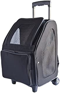Petote Rio Bag On Wheels Pet Carrier, Black