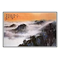 IDOLN1 Hseuh ChingMao中国の山のシーンキャンバスプリントポスター壁アート絵画リビングルームの壁の装飾壁の装飾-50x75cmフレームなし1PCS