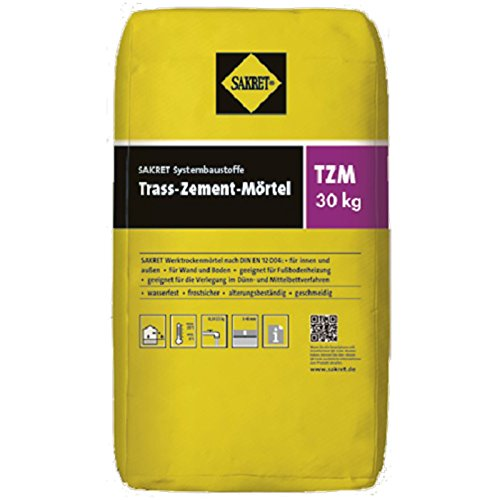 Sakret Trass-Zement-Mörtel TZM 0-4mm grau 30 kg Werktrockenmörtel mit Trass