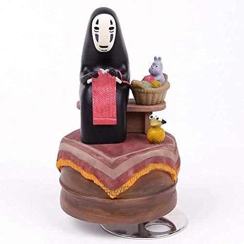 RGWSYTNIA Figura de Anime Estatua de Dibujos Animados Miyazaki Hayao el Viaje de Chihiro sin Rostro Hombre Caja de música Juguetes de PVC muñeca Anime Regalos 15cm
