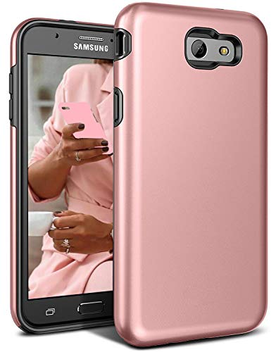 Galaxy J7 V Case, J7 Perx Case,J7V Case,J7 Sky Pro Case,Galaxy Halo Case, All Around Protection Hybrid Dual Layer Armor Phone Case Cover for Samsung Galaxy J7 2017, Rose Gold