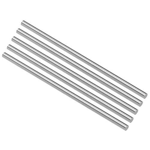 Yongenee HSS Torno Ronda Barra Maciza Eje Bar 3,7 mm 5 x 100 mm Longitud Dia Herramientas industriales