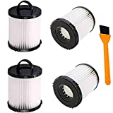 Hongfa Replacement Eureka DCF21 Vacuum Filter ,4 Pack Dust Cup Filters for Eureka AS1000 AS1040 3270 3280 4230 4240, 8810, 8860 Upright Vacuums,Compare to Part # 67821, 68931, 68931A, EF91, DCF-21
