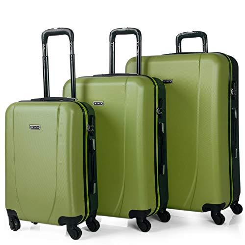 ITACA - Juego de Maletas de Viaje Rígidas 4 Ruedas Trolley 55/65/75 cm ABS. Buenas Cómodas y...