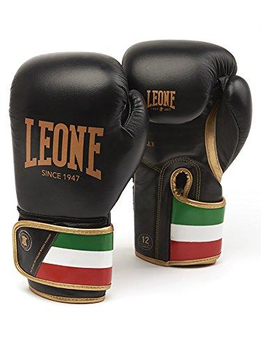 LEONE 1947 GN039 Boxhandschuhe, Unisex – Erwachsene, schwarz, 12OZ