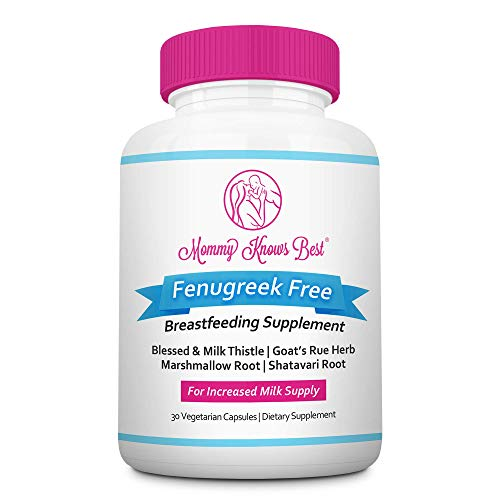 Lactation Supplement for Breastfeeding Support: Fenugreek Free with Goat's Rue, Blessed Thistle, Milk Thistle, Marshmallow & Shatavari Root: Breast Feeding Supplements for Breastmilk Supply Increase
