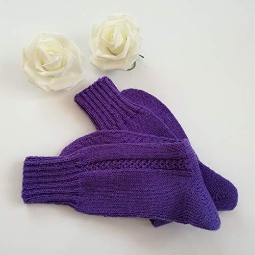Gestrickte Socken, Wollsocken, warme Socken, Kuschelsocken, Gr. 38/39