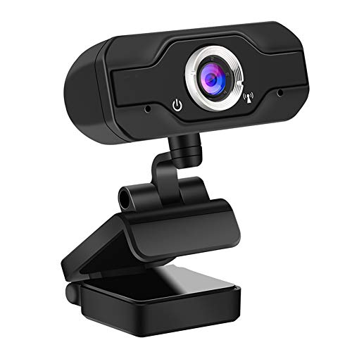 DreiWasser Webcam 1080P, Full HD USB Web Kamera, Desktop & Laptop Webcam Live Streaming with Microphone 90 Grad Ansicht für Heimbüro u. Videoreferenzen