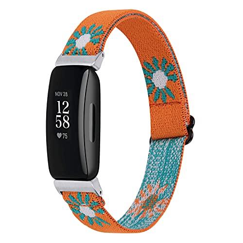 Ginamart Correa tejida compatible con Fitbit Inspire 2/Ace 3, pulsera de repuesto de tela de nailon suave, para mujer y hombre, para Fitbit Ace 3/Inspire 2, pequeño y grande, Small/Large, Nailon,