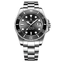 PAGANI DESIGN、男性用自動巻き腕時計、男性用機械式腕時計、男性用フルスチールビジネス防水ファッションスポーツウォッチ。