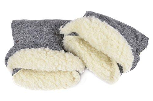 Handmuff Muff mit Fleece Innenseite Handwärmer für Herbst und Winter Lammwolle Len [073]