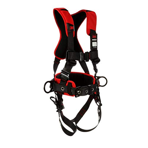 3M Protecta Comfort Construction Style Positioning Harness 1161205, Black, Medium/Large, 1 EA/Case