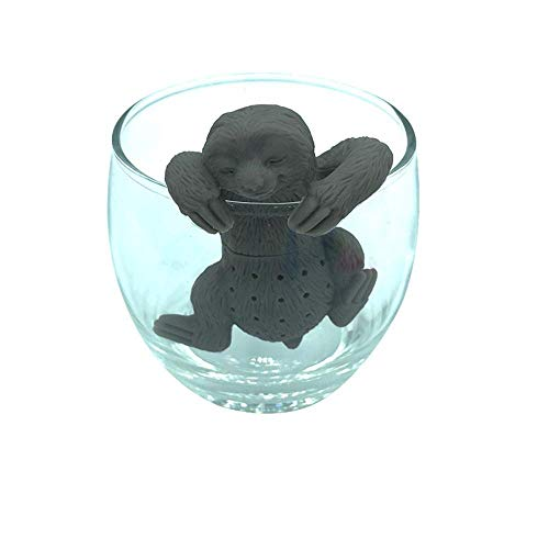 Katyma Infusor de té perezoso de silicona, máquina de té de silicona, no tóxica, creativa, con dibujos animados