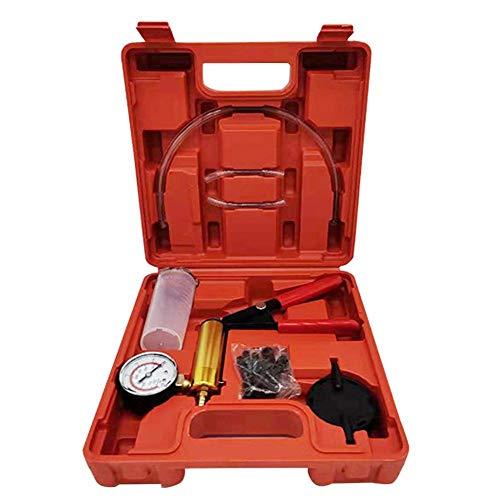 Forart Hand Held Vacuum Pump Tester Set Brake Bleeder Kit Vacuum Gauge and Brake Bleeder Kit for Automotive