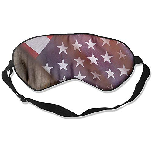 America Slaapmasker, baseball, zachte oogbinding, verstelbare hoofdband, oogschaduw, reiseyepatch