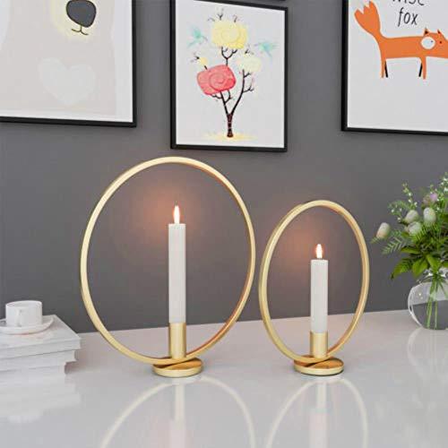 YEZINB 3D Geometric Candlestick Metallwand Kerzenhalter Wandleuchte Home Decor Nordic Style, Square Black 23CM