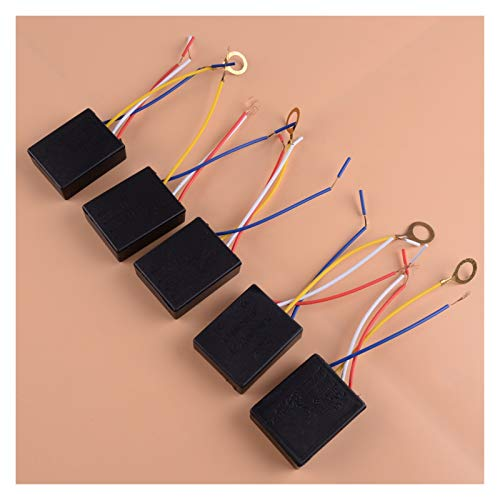 SSGLOVELIN 5pcs Black 3 Way 100-240V Lámpara de luz de Mesa de Mesa en el Interruptor de Control táctil Sensor Dimmer