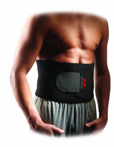 McDavid Waist Trimmer Belt Neoprene Fat Burning Sauna Waist Trainer - Promotes Healthy Sweat, Weight Loss, Lower Back Posture (Includes 1 Belt) , Black