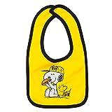 Borussia Dortmund Unisex– Babys BVB-Snoopy-Lätzchen, Gelb, ca. 34 x 19,5 x 0,5 cm