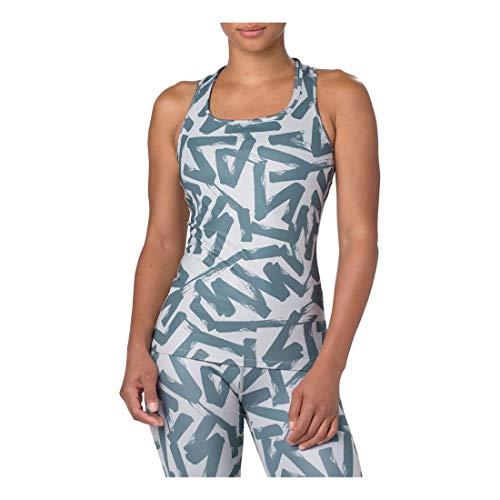 ASICS - Camiseta sin Mangas Ajustada para Mujer, Depósito Ajustado, Mujer, Color Gris Medio/Hierro, tamaño Large