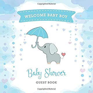 Baby Shower Guest Book: Cute Elephant Celebration   Advice for Parents   Wishes for Baby   Message & Sign in Guest Book   Gift Tracker   Party Supplies (Baby Shower Ideas)